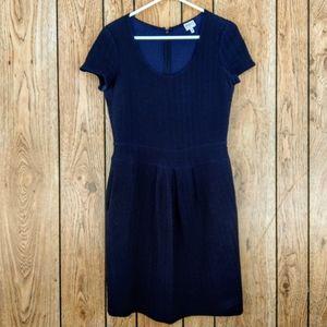 Armani Collezioni Blue & Black Chevron Dress